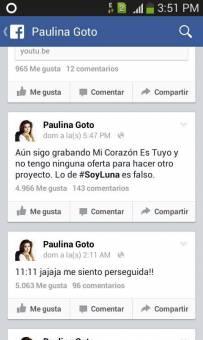 Paulina Goto No Sera La Protagonista!