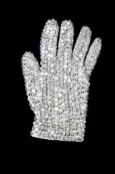 """El guante que utilizaba en """"Billie jean"""""""