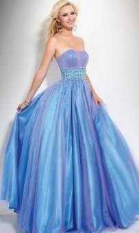 Vestido azul y morado