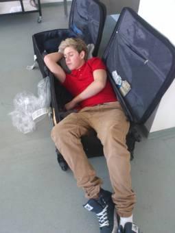 pobre niall se nota que estaba muy cansado